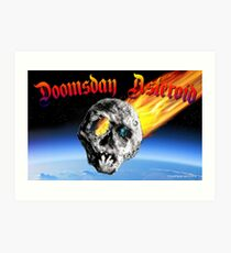 Doomsday Asteroid Art Print