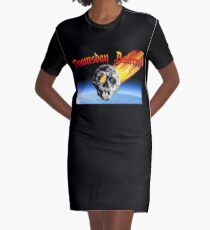 Doomsday Asteroid Graphic T-Shirt Dress