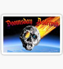 Doomsday Asteroid Sticker