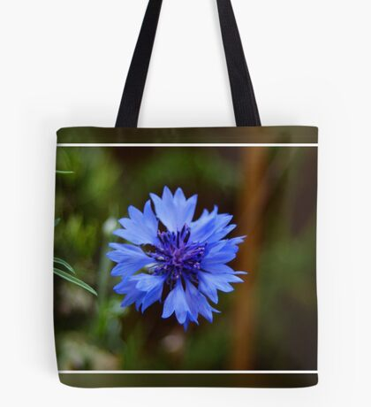 Blue Flower With Frame Tote Bag