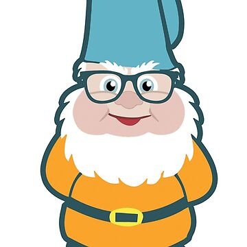 Funky Hipster Gnome Illustration by ironydesigns