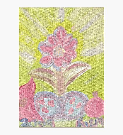 Painted Pastel Plant Photographic Print