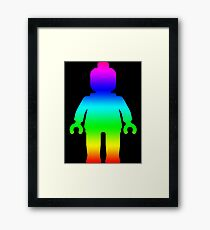 Minifig [Large Rainbow 1]  Framed Print