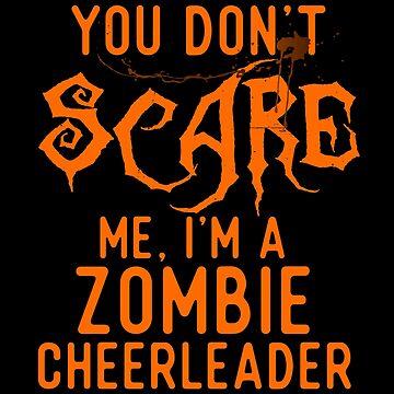 Funny Zombie Cheerleader Shirts Halloween Costume Joke Gifts by Bronby