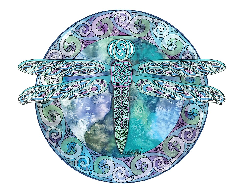 Cool Celtic Dragonfly by foxvox