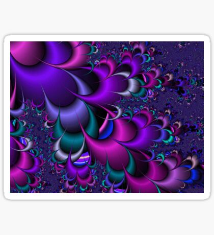 Purple Cascade Sticker