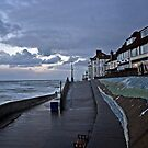Sheringham beach in the evening by Uwe Rothuysen