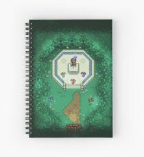 Zelda Mastersword Pixels Spiral Notebook