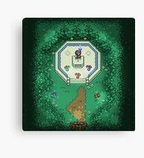 Zelda Mastersword Pixels Canvas Print