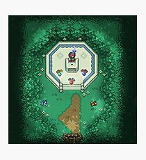 Zelda Mastersword Pixels Photographic Print