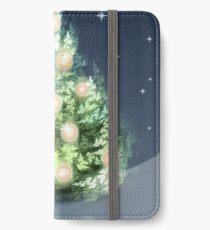 Fraktal-Weihnachtsbaum iPhone Flip-Case/Hülle/Skin