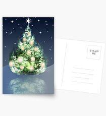 Fraktal-Weihnachtsbaum Postkarten