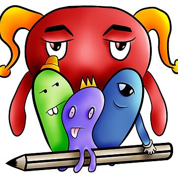 Little monsters draw team by Melcu