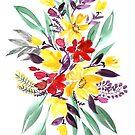 "Floral bouquet in fall colors ""Eloisse"" by blursbyai"