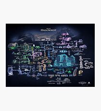 Hollow Knight | Painted Map of Hollownest Photographic Print