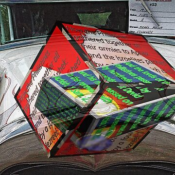 Antique car hood with 3D text boxes by KFRose