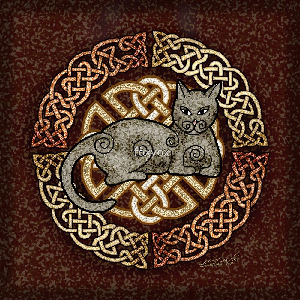 Celtic Cat by foxvox