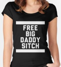 Free Big Daddy Sitch Women's Fitted Scoop T-Shirt