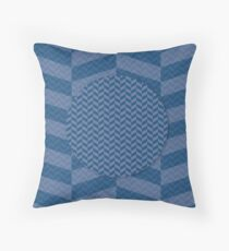 Pattern - blue with organic shapes Floor Pillow