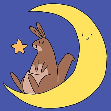 Crescent Moon Kangaroo by SaradaBoru
