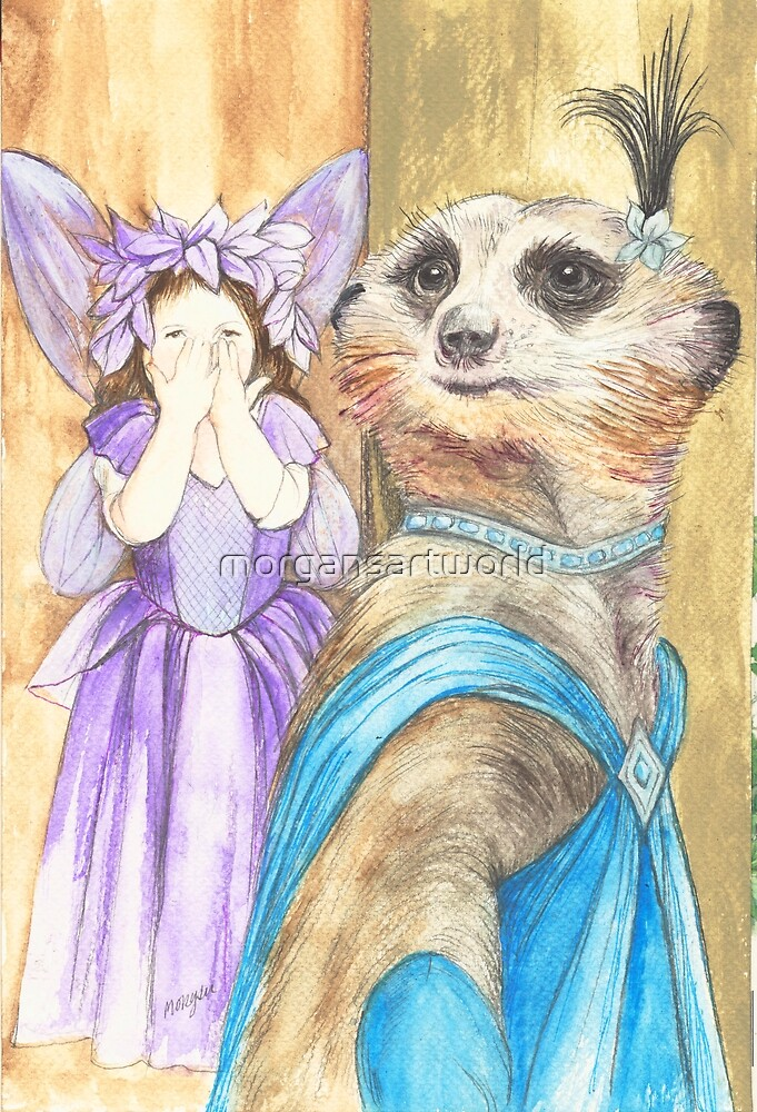 Dame Vivian Meerkat by morgansartworld