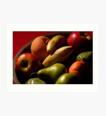 Bucket of fruit Art Print