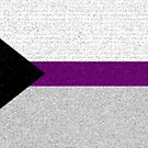 Demisexual Flag- Painted on a Wall by cadellin