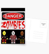 DANGER ZOMBIES Postcards