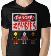 DANGER ZOMBIES Men's V-Neck T-Shirt