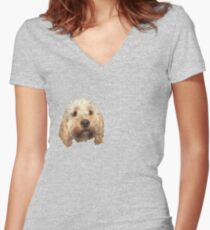 personalised dog Women's Fitted V-Neck T-Shirt