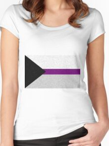 Demisexual Flag- Painted on a Wall Women's Fitted Scoop T-Shirt
