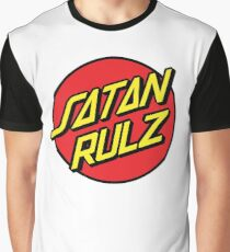 Satan Rulz Skater farce Graphic T-Shirt