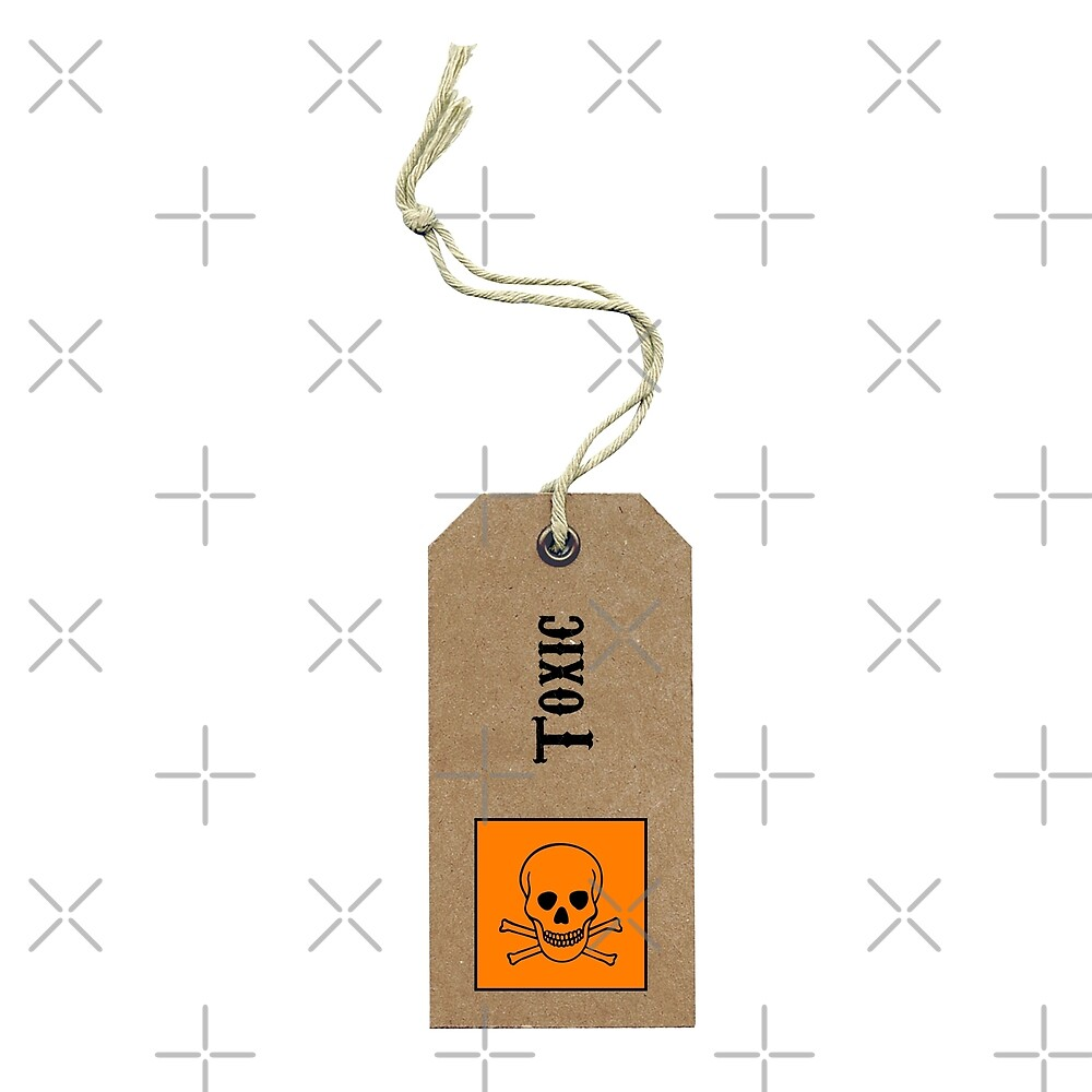 Toxic gift-tag Sticker by Corpsecutter