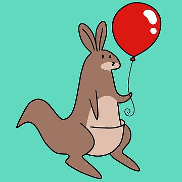 Red Balloon Kangaroo by SaradaBoru