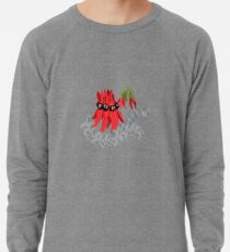 Australian Sturt Desert Pea Pattern Lightweight Sweatshirt