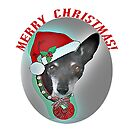 Merry Christmas Rat Terrier by Ruthie Spoonemore