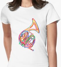 French horn Women's Fitted T-Shirt