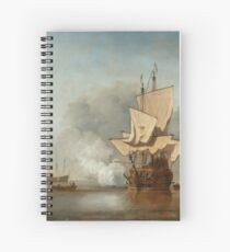 "Willem van de Velde II (Dutch Golden Age) ""Het Kanonschot (The Cannon Shot)"" Spiral Notebook"