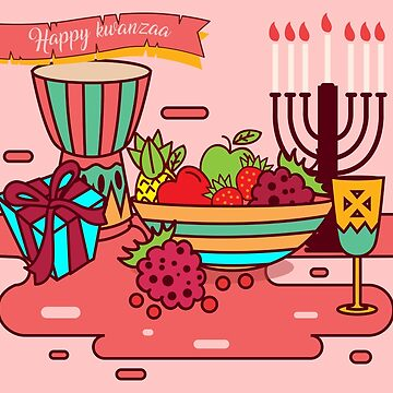pink happy kwanzaa by gossiprag