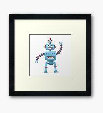 Cute and fun retro robot Framed Print