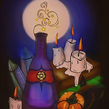 Witches Table by minniemorrisart