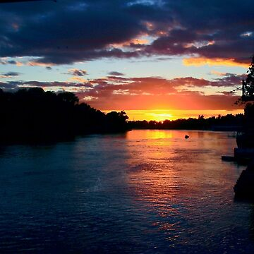 Sun Setting on the Sacramento by lenzart
