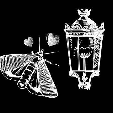 Moth love Lamp by Switch01