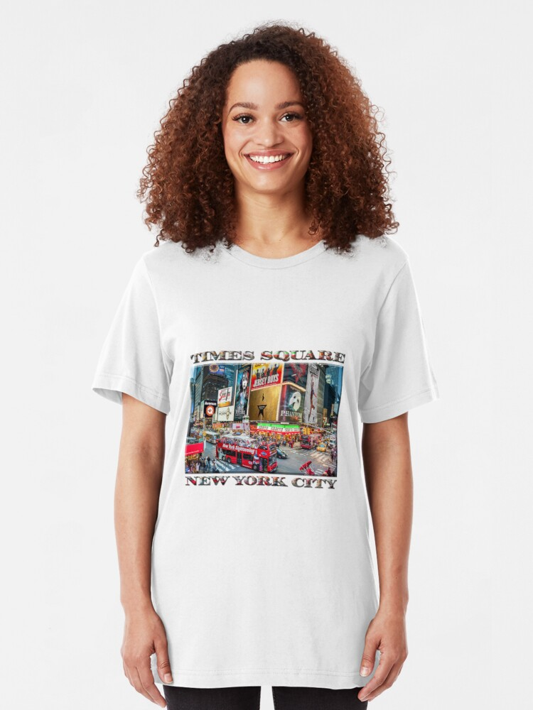 Alternate view of Times Square II Special Edition I Slim Fit T-Shirt