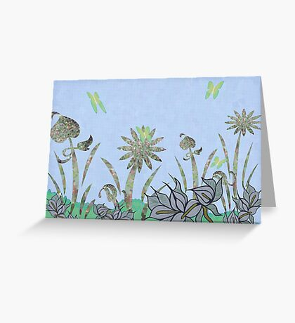 Faceted Flora Greeting Card