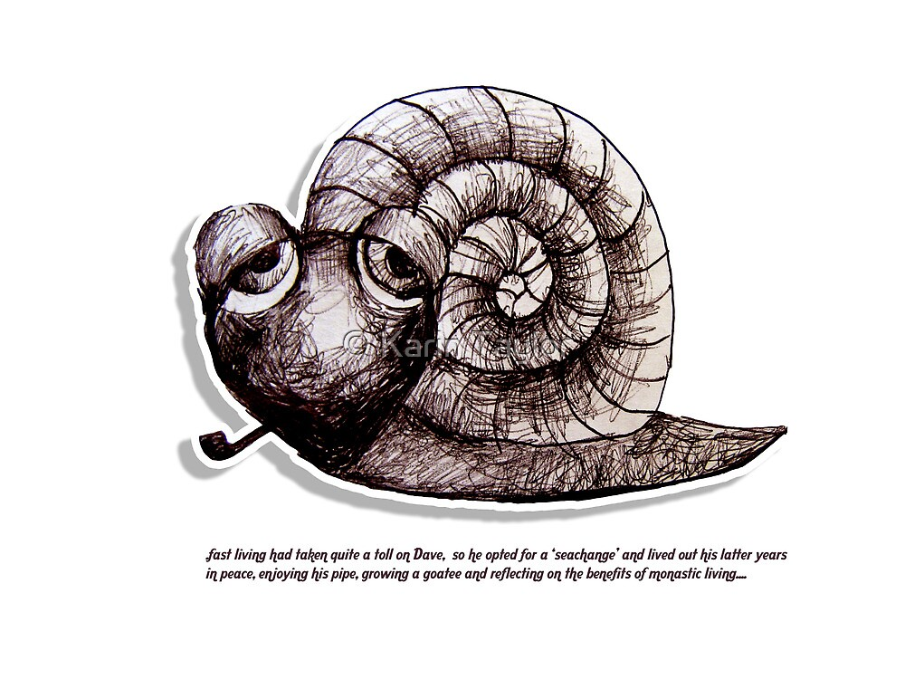 Little Profiles Chilled Snail by © Karin Taylor