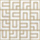 Golden Deco Lines Pattern  by tobiasfonseca