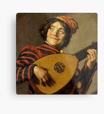 "Frans Hals ""The Lute Player"" Metal Print"