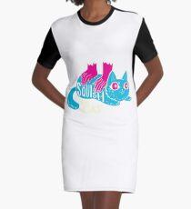 Squish that Cat! Graphic T-Shirt Dress