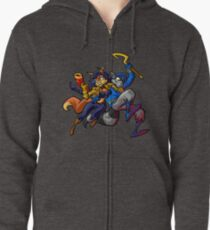 Sly Cooper and Camelita Fox Zipped Hoodie